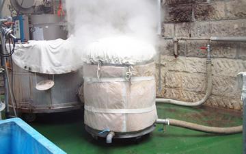 蒸し~冷却~麹造り